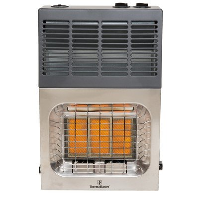 Vent Free 10,000 BTU Infrared Dual Fuel T-Stat Space Heater