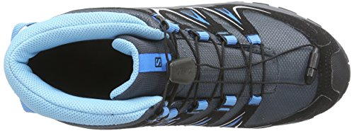 Salomon XA Pro 3D Mid CSWP J - Zapatillas para niños Gris - Grau (Grey Denim/Black/Methyl Blue)