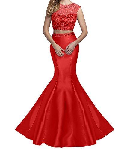 Promkleider La Meerjungfrau Satin Marie Etuikleider Braut Abendkleider Rot Langes Abschlussballkleider 6fYxZCFfqw