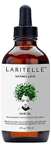 Laritelle Organic Hair Loss Prevention for Men and Women, Strengthening and Rejuvenating Follicle Fuel, Prevents Hair Shedding, Promotes Hair Growth, Rosemary, Ginger, Grapefruit, NO GMO, Vegan, 4 oz