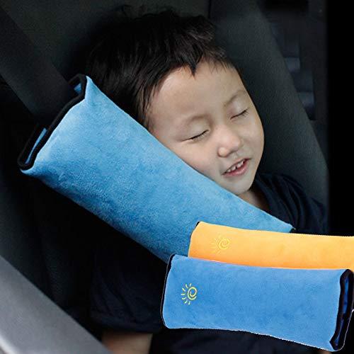 Limeo Cuscino per cintura a 2 pezzi Cintura per auto Cuscino Copricapo Cuscino per spalle per bambini in cintura di sicurezza per auto Coprispalle di sicurezza