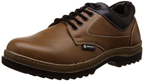 Spiky Men's Tan and Black Sneakers - 9 UK/India (43 EU)(SPS7016)