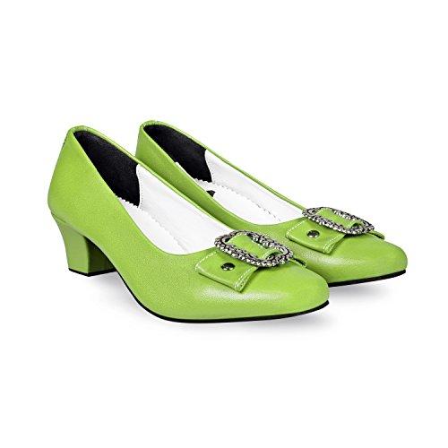 Almbock Trachtenschuhe Damen Nappa S162 (grün) in Größe 37 38 39 40 41 42 - Grüne Trachten-Schuhe für Damen zur Wiesn in München