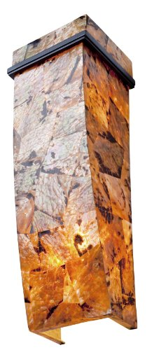 Varaluz 178K02B Big 2-Light Wall Sconce - Brilliant Mojave Finish with Reclaimed Chocolate Tiger Shell Shade
