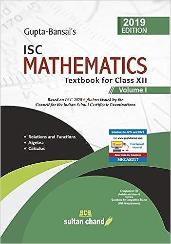 12 Maths Book Volume 1