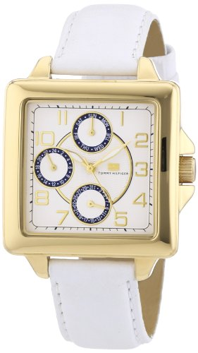 Tommy Hilfiger Women's 1780824 White Leather Strap Watch