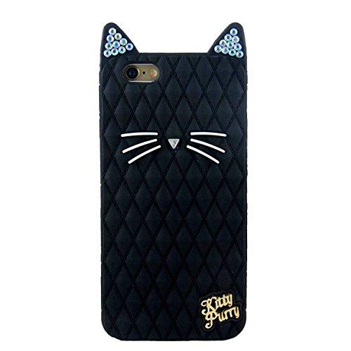 "iPhone 6S Plus Case,iPhone 6 Plus Case Express Prime Case, Phenix-Color 3D Cute Cat Cartoon Soft Silicon Gel Back Cover Case for iPhone 6/6S Plus (5.5"")Case Amp Prime (#08)"