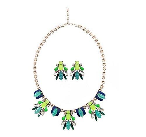 Amber Rhinestone Necklace - 1