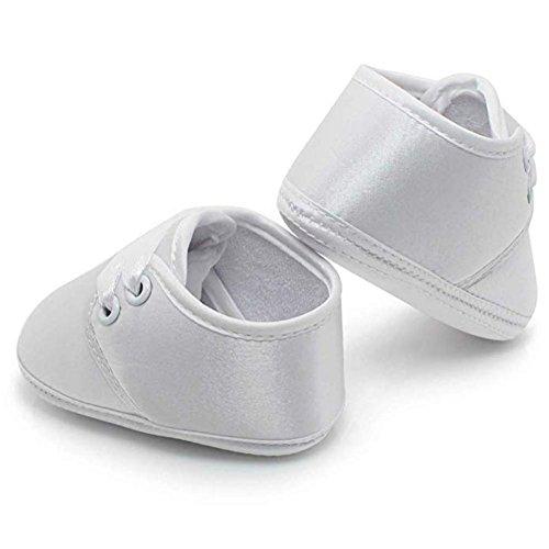 8d00152eb0017 OOSAKU Bébé Chaussures Stain Baptême Chaussures De Baptême Blanc Pantoufles  0-12 Mois  Amazon.fr  Chaussures et Sacs