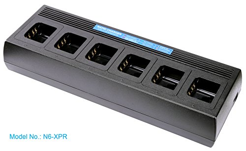 Multi Unit Rapid Charger for Motorola Radio XPR7550 XPR7350 XPR6580 XPR6550 XPR6350 XPR3300 XPR3500 APX 4000, Temperature Manage, Tri-Chemistry,XPR 7550 7350 6580 6550 6350 3300 3500 Six Gang Charger by Commountain (Image #7)