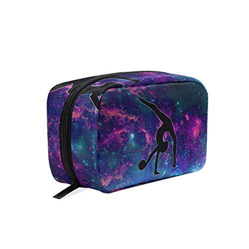 Makeup Bag Gymnastics Under The Starry Night Cosmetic Pouch Clutch
