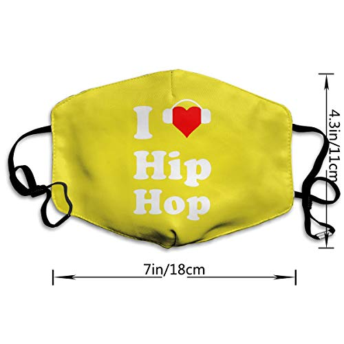 Mouth-Muffle Face Mask Unisex Love Hip Hop Adjustable Washable Anti-dust Woman Mens by Webb (Image #2)