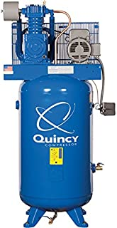 product image for Quincy Reciprocating Air Compressor - 5 HP, 460 Volt, 3 Phase, 80-Gallon Vertical, Model Number 253DS80VCB46