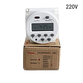 CN101A 24V-220V LCD Digitals Weekly Programmable Powers Timer Time Relay SwitHM