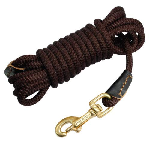 Coffee 33ft Coffee 33ft FidgetGear Extra Long Training Dog Tracking Leash Heavy Duty Nylon Rope 10ft 16ft 33ft 66ft Coffee 33ft