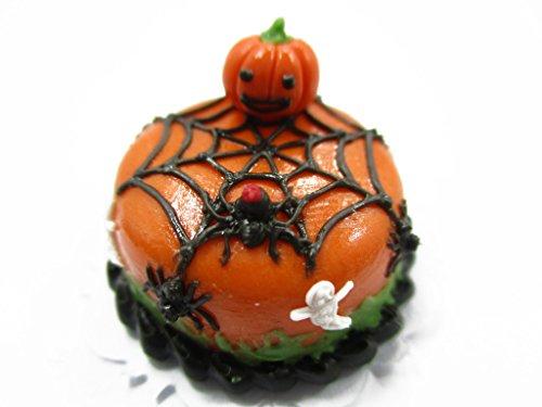 Dollhouse Miniature Halloween Cake 2 cm Spider Web