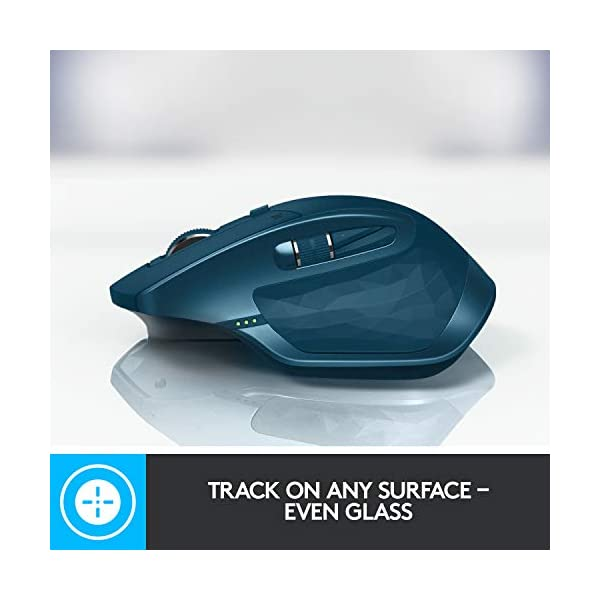 Logitech MX Master 2S Wireless Mouse – Use on Any Surface, Hyper-fast Scrolling, Ergonomic Shape, Rechargeable, Control…
