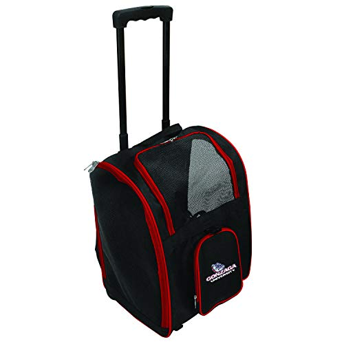 Denco NCAA Gonzaga Bulldogs Premium Wheeled Pet Carrier ()