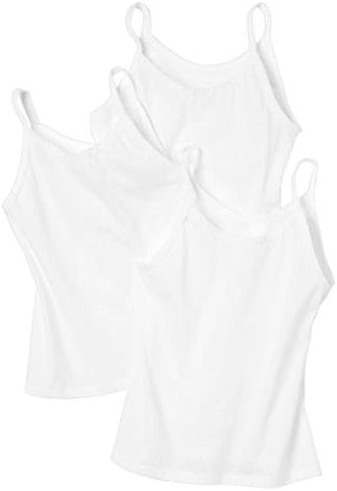 Hanes Toddler Girls Camisole 3 Pack (White 2T-3T): Undershirts: Clothing