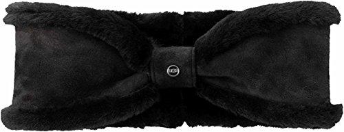 UGG Women's Waterproof Sheepskin Bow Headband Black One Size by UGG