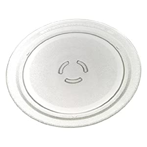 "Whirlpool 4393799 Microwave Glass Turntable Plate, 12"" Dia."