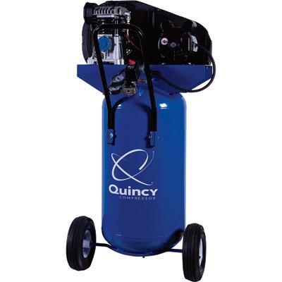 - Quincy Single-Stage Air Compressor - 2 HP, 115 Volt, 26-Gallon Vertical Tank, Model# Q12126VPQ -  Quincy Compressor