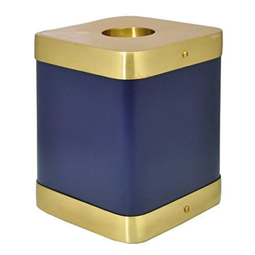 Memorial Gallery 9126 Brass Square Cremation Pet Urn, Violet