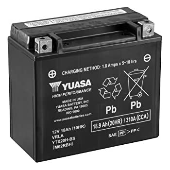 yuasa yuam32rbs ytx20 bs battery automotive. Black Bedroom Furniture Sets. Home Design Ideas