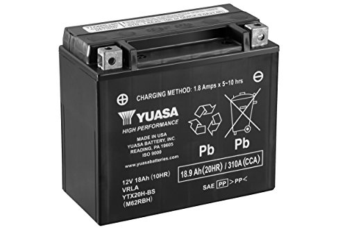 - Yuasa YUAM62RBH YTX20H-BS Battery
