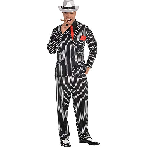 AMSCAN Mob Boss Halloween Costume for Men, Large/Extra Large, with Included Accessories -