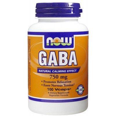 Now Foods GABA 750mg - 100 Vcaps