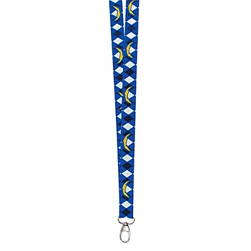 NFL San Diego Chargers Argyle Lanyard, Blue, One (San Diego Chargers Pro Shop)