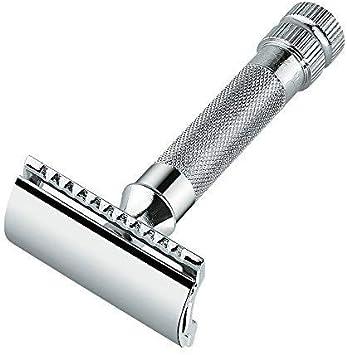 Merkur 34C Maquinilla de afeitar de seguridad, resistente, cuchillas no incluidas