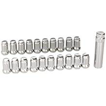 UPGR8 U8204-2505 S-Series 20 Pieces Steel Closed Ended Wheel Lug Nuts with Key, M12 X 1.25MM, Chrome