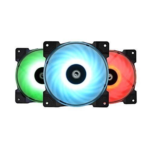 3pcs Cooling Fans DF-12025-RGB Trio RGB 4Pin Temperature Controlled Cooler