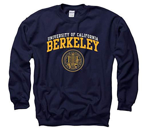 Shop College Wear UC Berkeley Double Arch Men's Crewneck Sweatshirt- Navy Double Arch Crew Sweatshirt