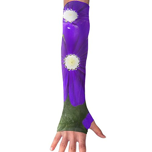 Beautiful Violet Flowers Ultra Long Non Finger UV Resistant Gloves Gloves Sleeve, For Women And Men To Provide Sunscreen Protection 1 Pairs, For Outdoor Sports, Driving, Bicycles by WEIFG