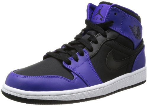 newest 2225f a4b0c Nike Air Jordan 1 Mid Mens Basketball Shoes 554724-019 Black 11 M US - Buy  Online in Oman.   Apparel Products in Oman - See Prices, Reviews and Free  ...