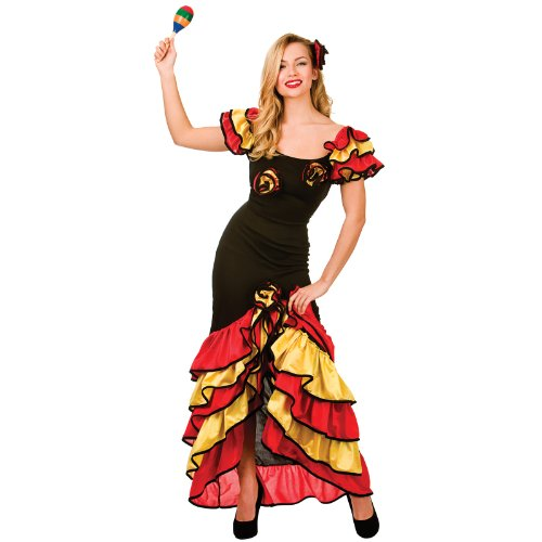 Rumba Dancer Costume Woman Dancing Fancy Dress Large