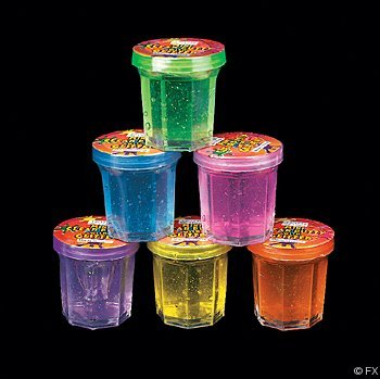 Fun Express Mini Clear Putty with Glitter (4 Dozen)