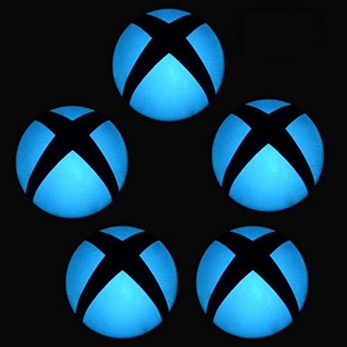 Edwin Group of Companies Logo Power Button Decal Colorful LED Skin Sticker for Microsoft Xbox One Console (5 pcs Light Blue)