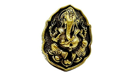 School Janitor Costume (Never Miss Lord Ganesh ganesha god of beginning success (Lp Hong) gold ring traditional with amulet gift)