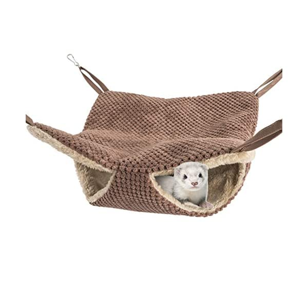 Niteangel Cage Hammock Pet Nap Hanging Bed Accessories Fit 2 Adult Ferrets or 3 More Adult Rats 2