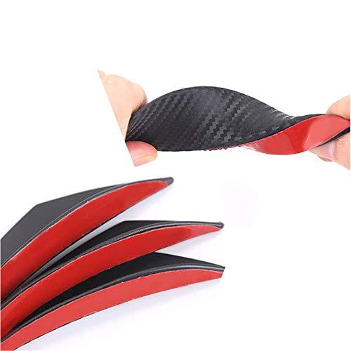 Coomir 6Pcs Universal de Fibra de Carbono Mirada Delantera del Coche Parachoques Aletas Spoiler Wing Lip Splitter