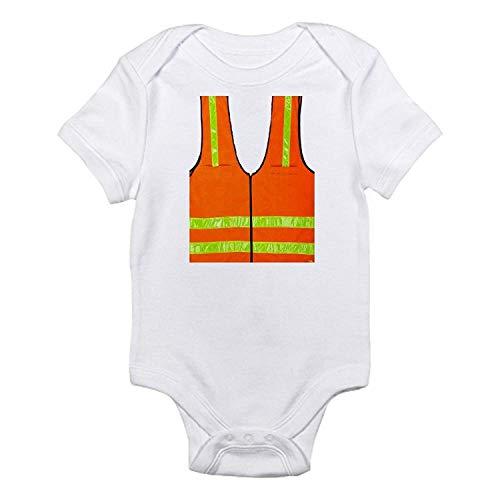 Chaleco Reflectante de Seguridad para Halloween, recién Nacido, niños y niñas, de Manga Corta, Blanco, 3-6 Meses
