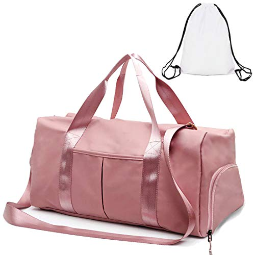 Gym Duffle Bag Dry Wet Separated Gym Bag Sport Duffle Bag Training Handbag Yoga bag with Extra Drawstring Backpack