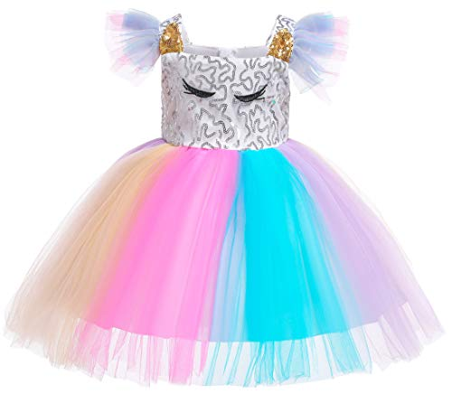 Kokowaii Fancy Toddler Baby Girls Sequin Tutu Dress Girls Pageant Party Dress Flower Girls Dress ()