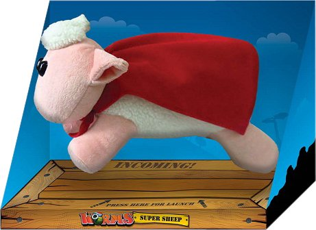 Gaya Entertainment - Worms Plush Figure with sound Super Sheep 29 cm