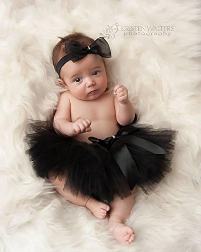 Amazon Com Black Tutu Set With Bow Headband For Photography Baby Girl Headband Handmade Newborn Photo Prop Girls Accessories Hair Band Tutu Handmade