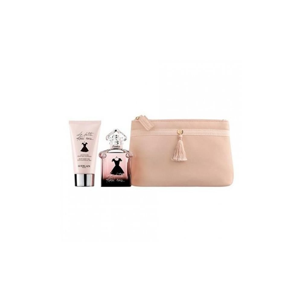 Guerlain La Petite Robe Noire for Women-3 Pc Gift Set 1.6-Ounce EDP Spray, 2.5-Ounce Velvet Body Milk, Pouch W-GS-3496